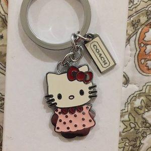 Hello kitty coach keychain